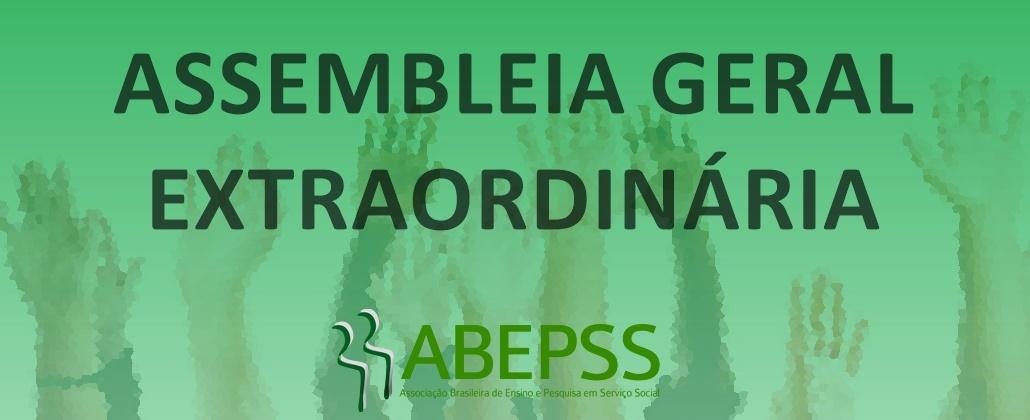 ABEPSS realiza assembleia geral extraordinária no dia 07 de novembro, no Rio de Janeiro