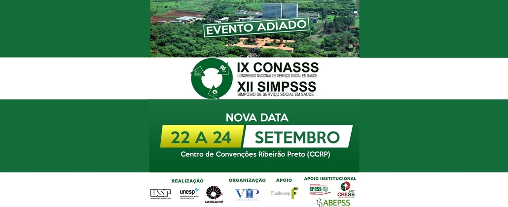 Evento adiado! CONASSS acontecerá de 22 a 24 de setembro