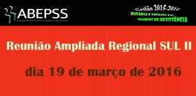 Regional Sul II agenda reunião ampliada para o dia 19 de março