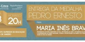 A ABEPSS PARABENIZA A ASSISTENTE SOCIAL E PROFESSORA MARIA INÊS SOUZA BRAVO
