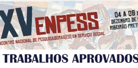 Confira os trabalhos aprovados para o XV ENPESS
