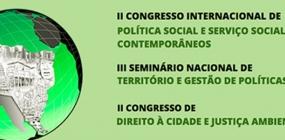Inscrição de trabalhos para o II Congresso Internacional de Política Social e SS é prorrogada