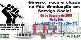 ABEPSS Regional Sul II realiza o 2º Fórum Discente de Pós-Graduação