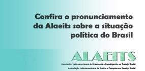 Confira o pronunciamento da Alaeits sobre a situação política do Brasil