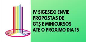 Prazo para submissão de propostas de GTs e minicursos para IV Sigesex vai até 15 de fevereiro