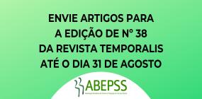 Revista Temporalis abre prazo para envio de trabalhos para edição nº 38 do periódico