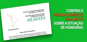 Confira o pronunciamento da ALAEITS sobre a situação de Honduras