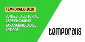 Temporalis 2020: Conselho editorial abre chamada pública para submissão de artigos