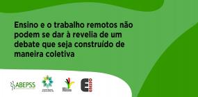 TRABALHO E ENSINO REMOTO EMERGENCIAL