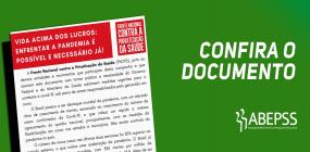 ABEPSS assina documento que pede o enfrentamento à Covid-19