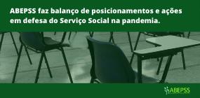 ABEPSS faz balanço de posicionamentos e ações em defesa do Serviço Social na pandemia