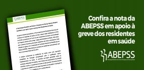 Nota da ABEPSS em apoio à greve dos residentes em saúde